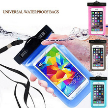 Waterproof Mobile Phone Bag with Strap Dry Pouch Case Cover For Samsung Galaxy I9100 I9300 I8190 I9500 I9190 I9600 Swimming Case(China)
