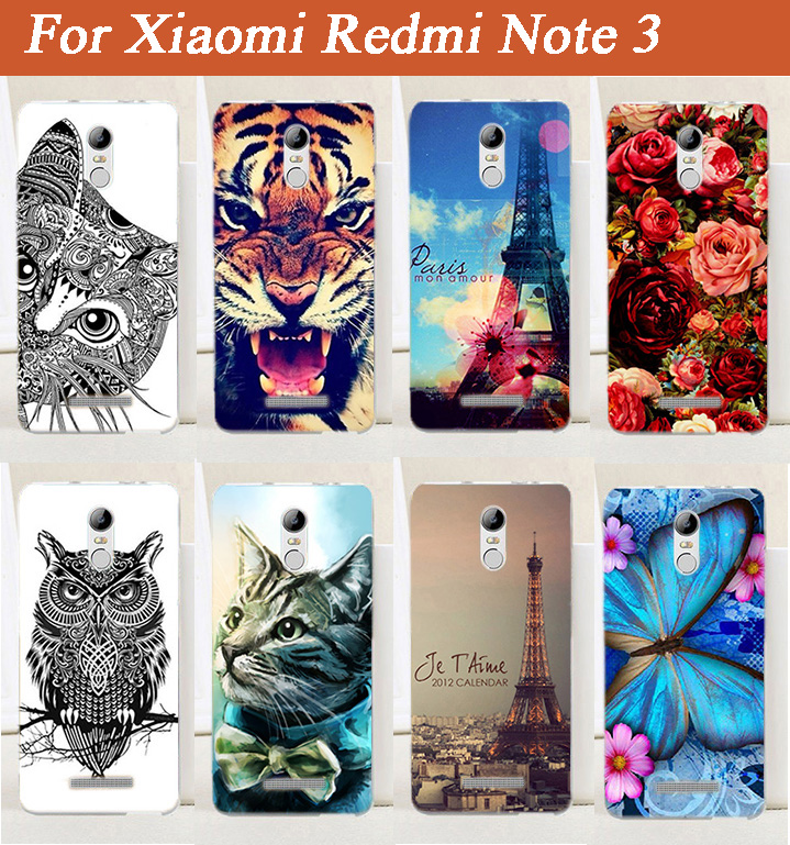 Slim Protective Skin cover case For Xiaomi Redmi Note3 Special COOL Animals Patterns Beautiful Flowers Stand Function case cover(China)