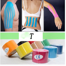 5mx5cm Waterproof Kinesio tape Athletic Kinesiology Tape Sport Taping Strapping Good Quality Football Knee Muscle Kinesio tape(China)