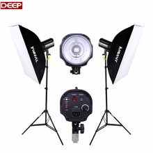 Photo 220w studio flash lamp holder photography lightbox light box camera fotografica photography lighting light stand install(China)