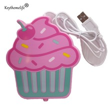 Keythemelife USB Powered Cup Warmer Kawaii Cupcake shaped Insulation Coaster Coffee Mats Placemat Cup Holder DA