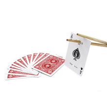 Hot sale Chopsticks Cards card magic sets close up magic tricks magic props as seen on tv Free shipping 82127