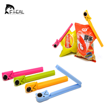 FHEAL 2pcs/set Cartoon Animal Sealing Clip Cute Cat Bag Clips Snack Food Storage Seal Clips Keeping Fresh Fresh Sealer Clamp