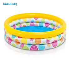 kidadndy Circular Inflatable Pool Family Pool Children Aid Float Kids Mini-playground Swimming Pool LMY919YD