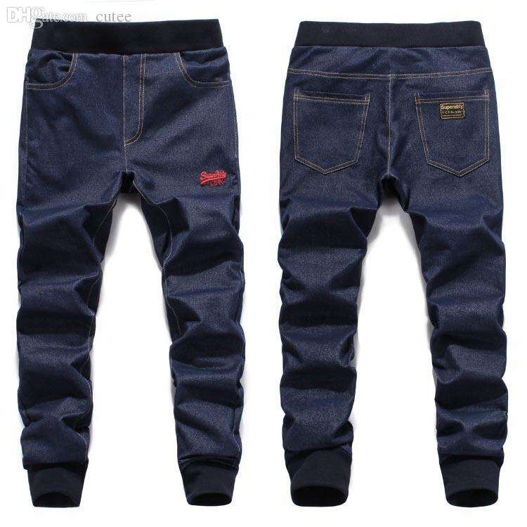Men Fashion Casual Blue Denim Jogger PantsОдежда и ак�е��уары<br><br><br>Aliexpress