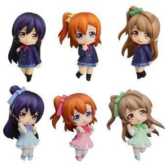 Hot New Kwaii 6pcs/set love Live! School Idol Project PVC Figures Toys Kousaka Honoka Minami Kotori Sonoda With Gift Box<br><br>Aliexpress