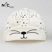 2017 New Fashion 1pc Cute Baby Cartoon Cat Hat Kids Baseball Cap Newborn Boy Girl Soft Cotton Caps for Baby Accessories(China)