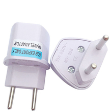2pcs two round pin plug Power outlet converters power socket adapter plugs use in the Brazil Argentina