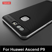 Huawei P9 Case P9 Cover Vpower Luxury Ultra Slim TPU+PC Hybrid Protective Cases For Huawei Ascend P9 Mobile Phone Back Covers