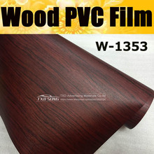 Good quality  W1353 Wood PVC Grain Sticker Wood VINYL Wood PVC film internal decoration wood grain pvc vinyl film sticker