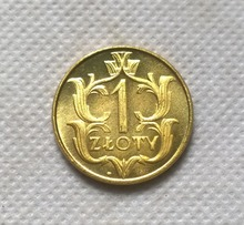 1929 Poland 1 Zloty brass coin FREE SHIPPING(China)