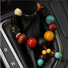 Beads Bodhi Son Car Ornaments Keep Safe Symbolize Car Gears design Auto Accessories Automobile Interior Decoration(China)