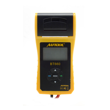 AUTOOL 12V Car Battery Load Tester with printer BT660/Multi-language Digital automotive battery tester CCA100-3000 latest tool(China)