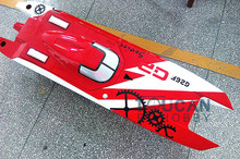 "G30F ARTR Catamaran 50"" FiberGlass 30CC Engine Gas RC Boat Water Cool Sys Red"