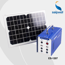 ***Without Battery*** Free Shipping Saip/Saipwell High Quality 12V Portable Solar System Generator,Solar Power System (ES-1207)