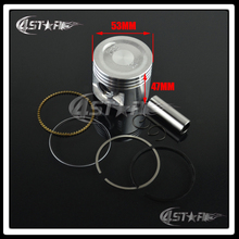 High Performance Motorcycle Piston Ring CA250 Diameter 53MM Piston Accessory Piston Ring Set Kit Assy Free Shippping