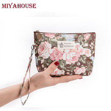 Miyahouse Women Portable Zipper Cosmetic Bag Fashion Floral Printing Makeup Bag Cosmetics Pouches Ladies Travel Toiletry Bags(China)
