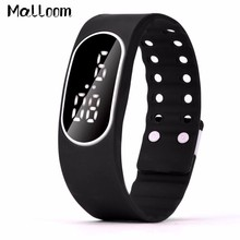 Malloom Womens Rubber LED Watch Mens Silicone Sports Date Clock Digital Watches Lady Bracelet Wrist Watch Reloj Relogio #N
