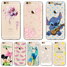 Soft TPU Cover For Apple iPhone 5 5S SE 6 6S 6Plus 6S 7 7+ Cases Shell Wholesale Price Mysterious Peacock Brisk Flowers Patterns