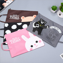 Cute A4 Bag Fabric File Folder For Documents Stationery 33*24cm Document Bag School Suppliers A4 File(China)