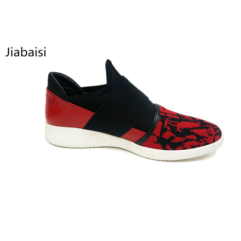 Jiabaisi shoes Womens Sneakers Woven lightweight Brand Loafer comfort soft Elastic oxford Genuine Leather Womens Casual shoes<br>