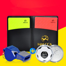 MAICCA Football Referee Red Card Whistling Yellow Card Soccer Pencil Notebook Set Ball Match Equickment Professional Supplies