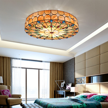 Tiffany stained glass ceiling light living room bedroom balcony hallway home garden ceiling light 50cm(China)
