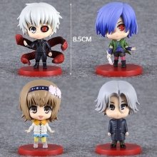 Tokyo Ghoul 3 Edition 4 pieces of Action Figures Kaneki Ken Dolls Juzo Suzuya Rei Kirishima Touka PVC ACGN figure Toys Anime(China)
