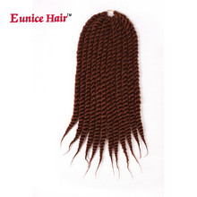 Eunice hair 12 18 24inch Havana Twist Crochet Braids Hair extension Synthetic Braiding brown/burgundy/blue/purple color 3pcs/lot(China)