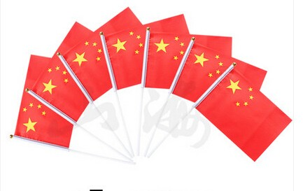10pcs/lot 14 * 21 cm hand wave flags car flag Chinese flag of Ecuador banner elegant(China (Mainland))