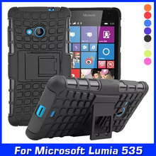 Luxury Hybrid TPU Shock Proof Silicone + Hard Shell Cell Phone Case Cover For Nokia Microsoft Lumia 535 Dual SIM Case Back Cover(China)