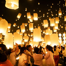 10pcs / lot oval Chinese paper lantern balloon lantern flying wish lamp hole lantern balloon wedding party decoration