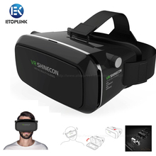 VR Shinecon 3D VR Glasses Universal 3D Game Video Glasses Virtual Reality Google Cardboard Free Controller For iPhone Smartphone