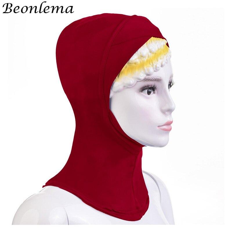 Top Qualität Schwarz Weiß Damen unter Schal Hijab Rohr Bonnet Knochen Kappe
