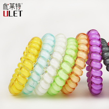 2017 Hairband  Hot Sale Telephone Wire  Headbands Candy Color Hair Bands Accessories Ponytail Traceless Hair Ring Elastic Rope