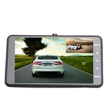 High-resolution 4 inch Dual Lens Car DVR Cam 1080P Full HD Video Registrator Recorder With Backup Rearview Camera