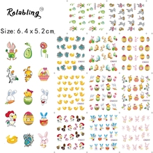 2017 New Arrival Rabbit Cartoon Character Series Water Transfer Nail Sticker Manicure Accessories Fingernail Decorations(China)