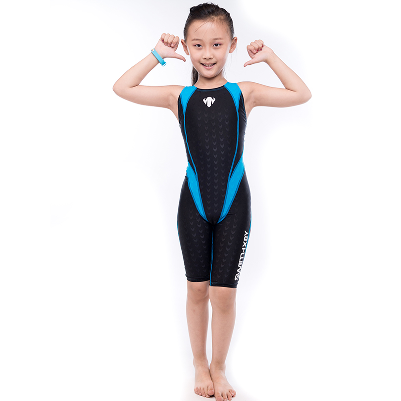 HXBY Hollow Out Back Swimsuit Kids One Piece Suit Swimming Wear Sleeveless Quick Dry Girls Kids Swimsuit Swimming Sport Wear <br>