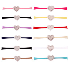 1 PCS Fashion LOVE Headband Newborn Rhinestone Heart Headbands Kids Headwear Hair Bands Accessories Photo props