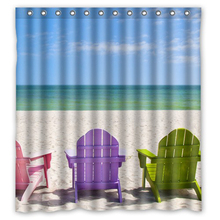 Special Design Beach Chairs Customized Unique Waterproof Shower Curtain Bathroom Products Curtains Size 48x72,60x72,66x72 Inches