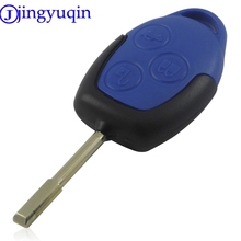 jingyuqin Hot Sale 3 Buttons Transit Connect Set Remote Car Key Shell Styling Cover For Ford Transit Blue Case(China)