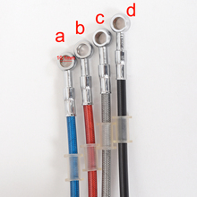 0.5M 1M 1.2M 1.5M 2M 2.3M Motorcycle Brake Pipe Tubing Braided Steel Hydraulic Reinforced Brake Or Clutch Oil Hose Line Pipe(China)