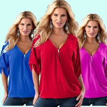 Buy Half Sleeve Solid Women Blouses 2018 Summer Fashion Blouse Shirt Female Tops Sexy Ladies Blouse Shirt Clothing MLD743 for $4.55 in AliExpress store