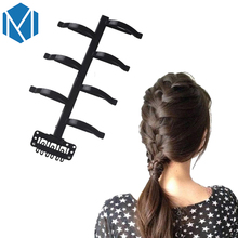 M MISM Fashion Women Hair Braid Roller Tools Twist Hair Stick Accessories Weave Braider Girls Lady Fish Bond Wedding Hairstyle(China)