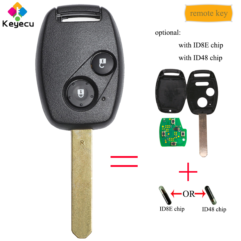 for Honda Civic Fit Replacement 313.8MHz ID8E Remote Car Key Fob OUCG8D-380H-A