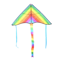 Rainbow Kite Outdoor Long Tail Nylon Toys for Kids Children's Kite Stunt Kite Surf without Control Bar and Line Kites(China)