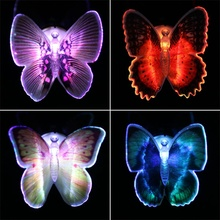 Hot Colorful Romantic LED Butterfly Bedside Night Light Baby Kid Room Lamp Indoor Lighting Party Home Decoration Lamp Gift