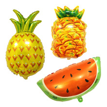 Fruit Foil Balloons Watermelon Children Inflatable Toys Pineapple Balloons Birthday Party Decorations Kids Fruit Party Supplies