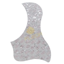 White Pearl Celluloid Material Acoustic Guitar Pickguard Self-adhesive Bird Shape for Acoustic Guitar
