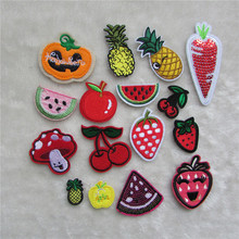 2016 year different food patterend new arrive hot melt adhesive applique embroidery patches stripes DIY accessory C477-C5202